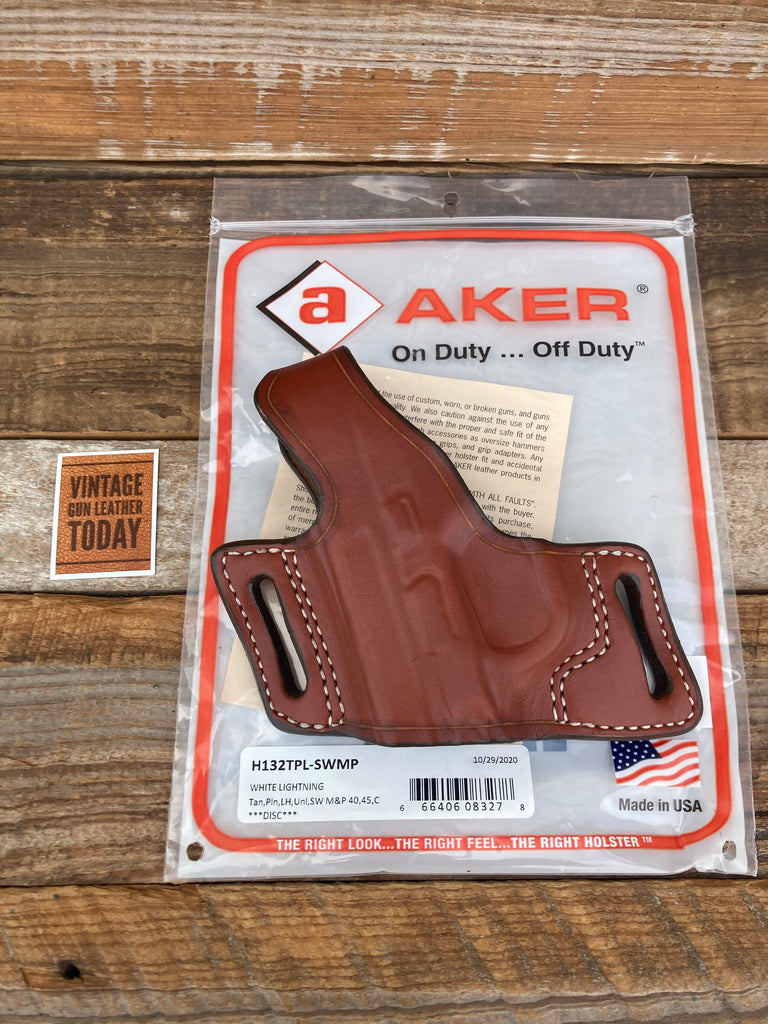 Discontinued Vintage AKER Plain Brown OWB Holster For S&W M&P 40C 45C Left