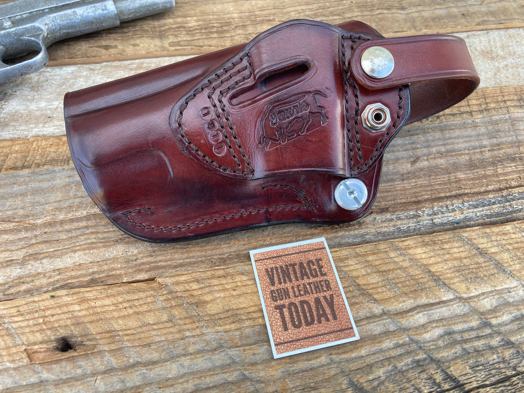 Custom TAURIS Cordovan Brown Dual Angle OWB  Holster For Colt .45 1911