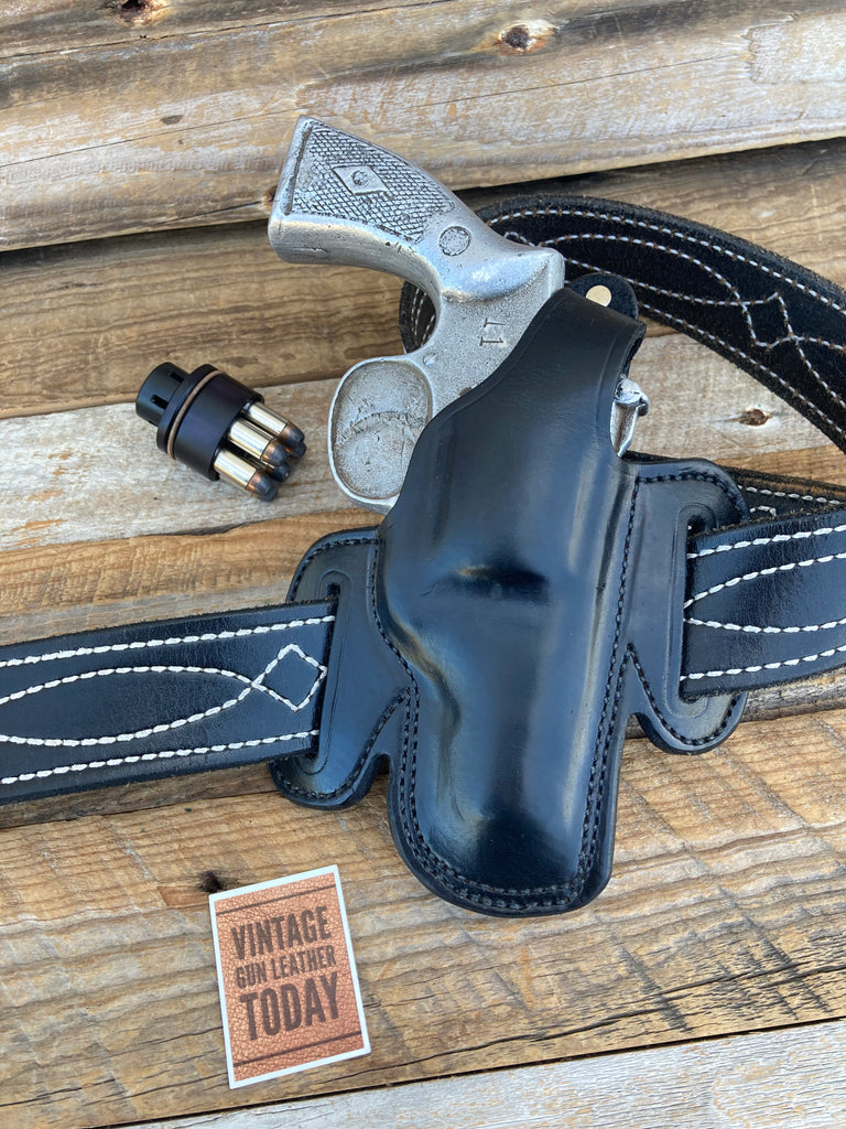Alfonso's Plain Black Leather OWB Holster for S&W K Frame 2 1/2 Revolver Right