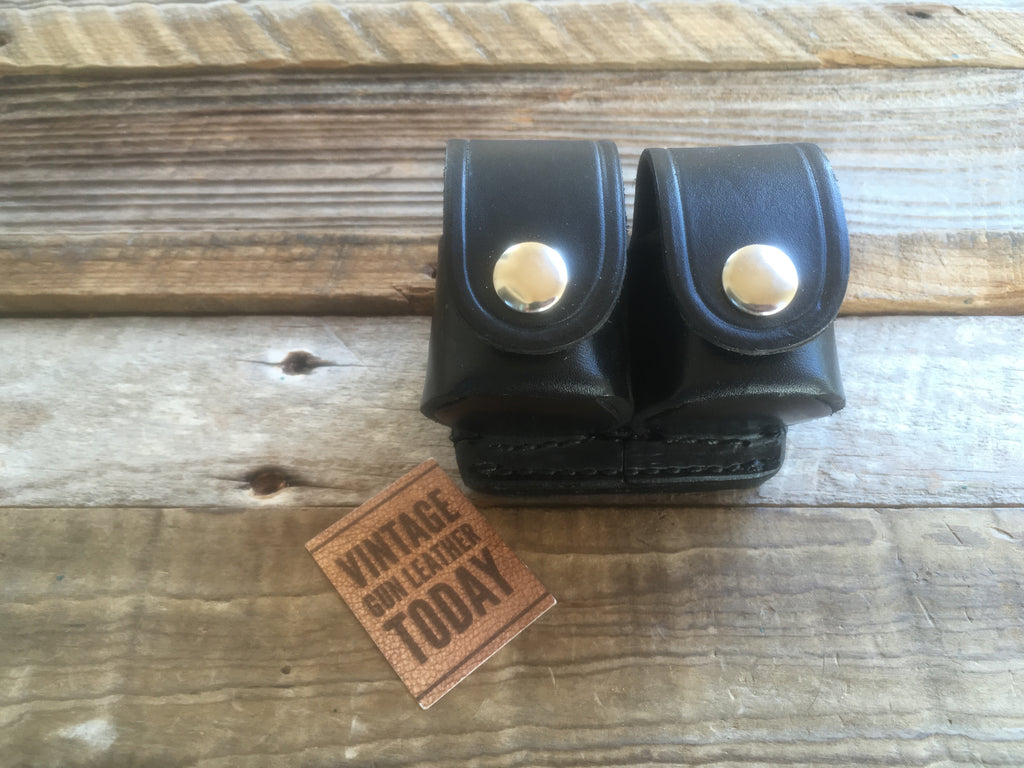 Tex Shoemaker 103 N Black Plain Leather SpeedLoader Holder For S&W N Frame
