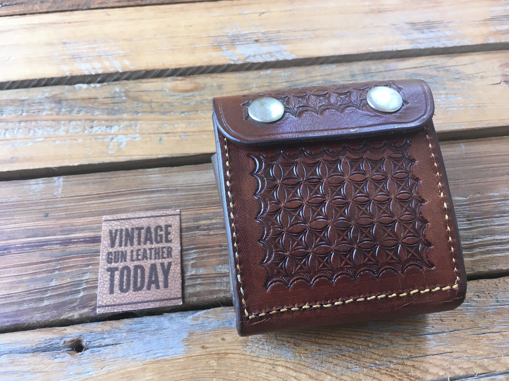 Beautiful Vintage Alfonso's .44 Leather Cartridge Belt Case Ammo Wallet