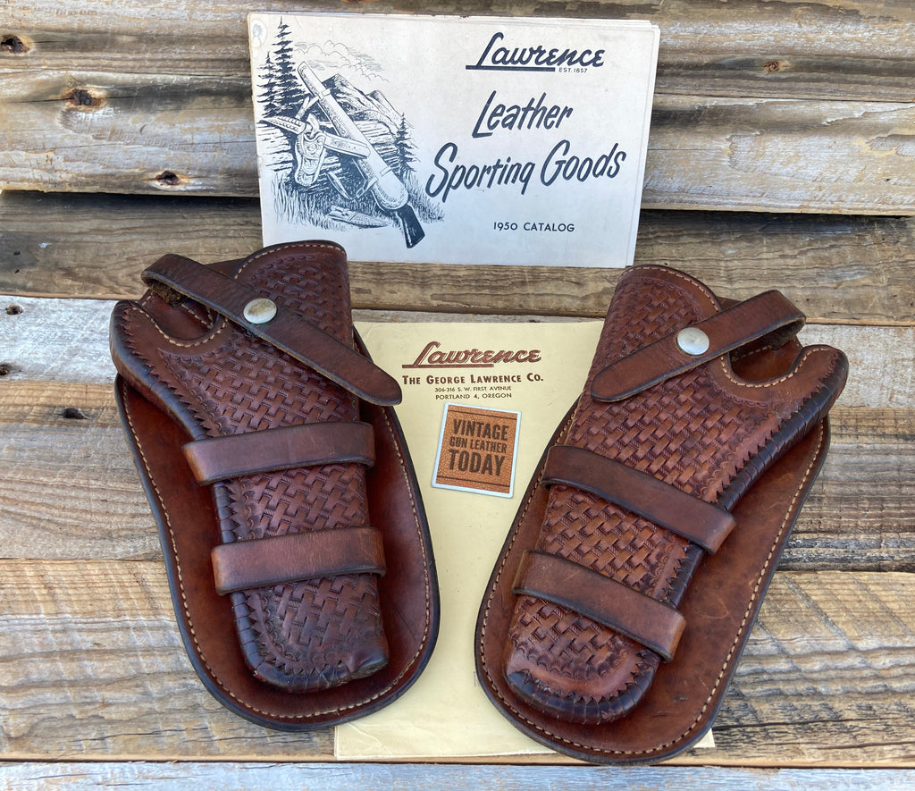 Western George Lawrence Set of Holsters for a High Standard Sentinel Revolver 5""