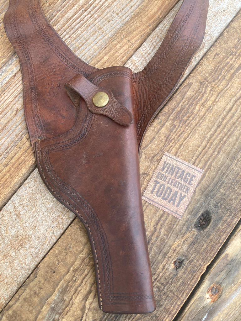 Alfonso's Sz 42 Lined Western Brown Leather Lined Cartridge Gun Belt .44 45 LC.