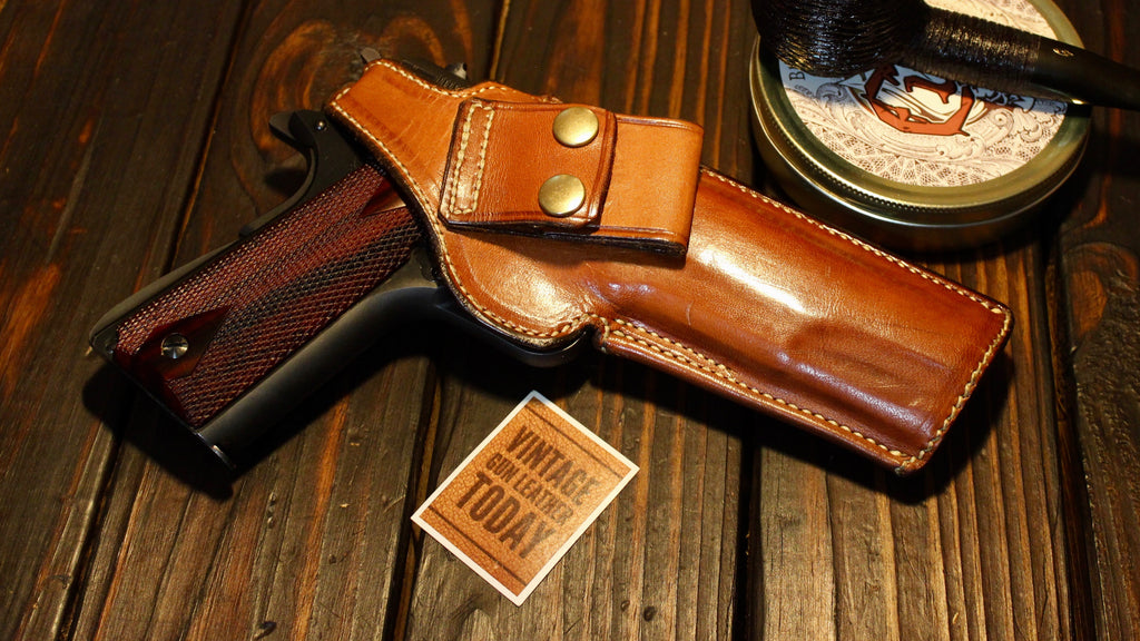 Alfonsos Of Hollywood Leather Lined OWB IWB Holster for Colt .45 1911 Government