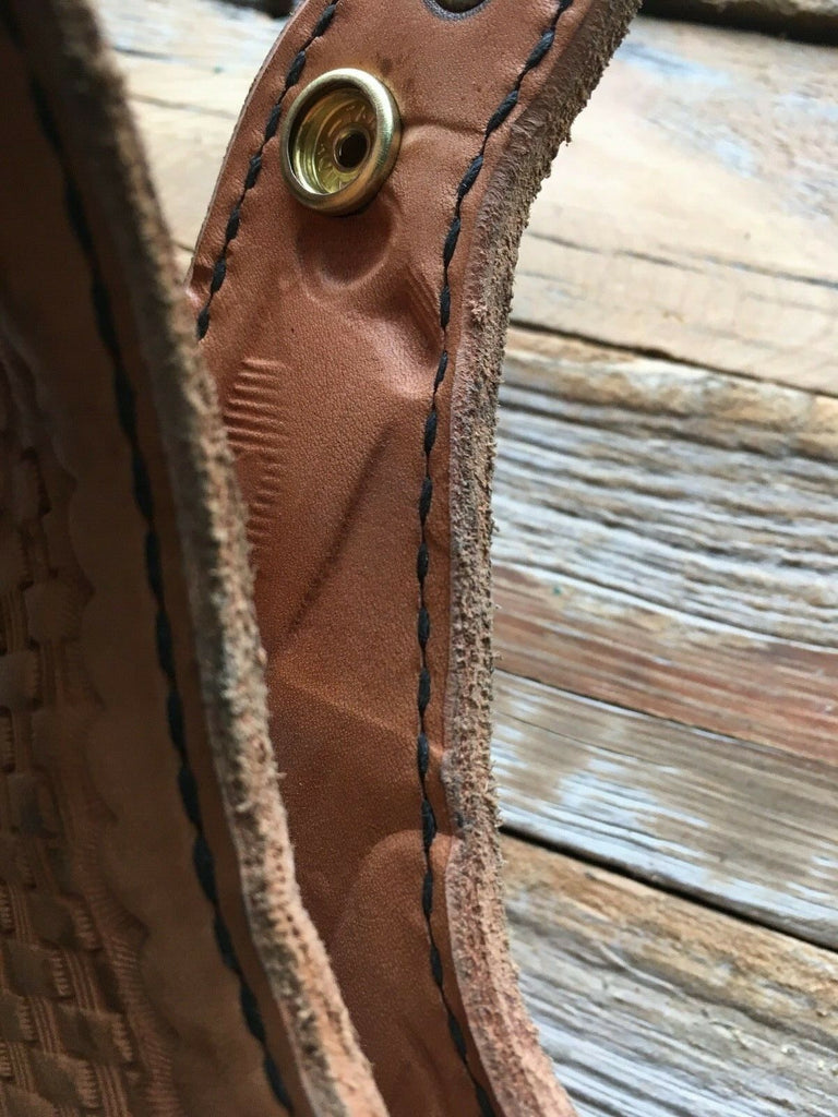 Vintage Tex Shoemaker 69H Brown Basketweave Leather Holster For S&W 645 LEFT