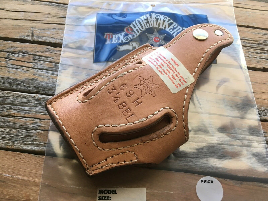 "Vintage Tex Shoemaker Brown Leather Lined Holster For S&W 645 3 1/2"" Barrel"