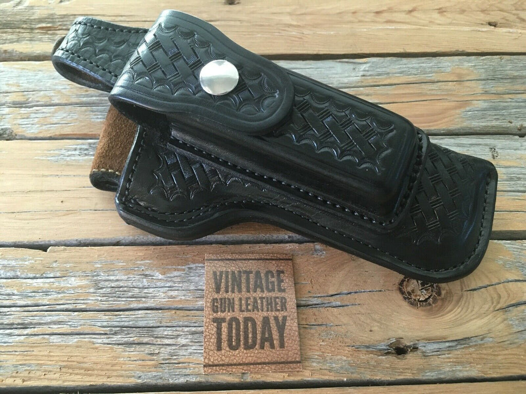 Vintage Alfonsos F67 Leather Holster w/ Magazine Holder For S&W Model 59 Lined