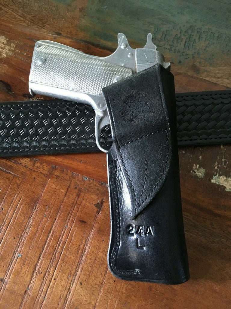 Copy of Tex Shoemaker Leather OWB Holster For Colt 45 1911 Government or  Commander to 5""