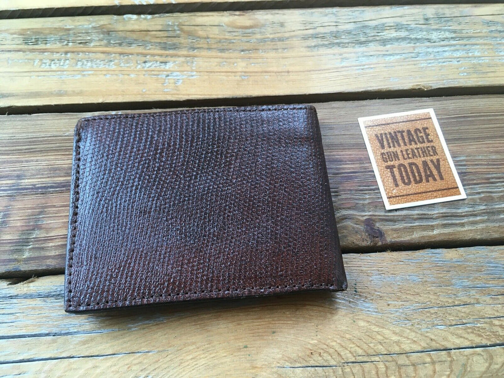 "Vintage Alfonsos Leather Police Fire Large Shield Badge ID Wallet 3 3/4"" 3 3/8"""