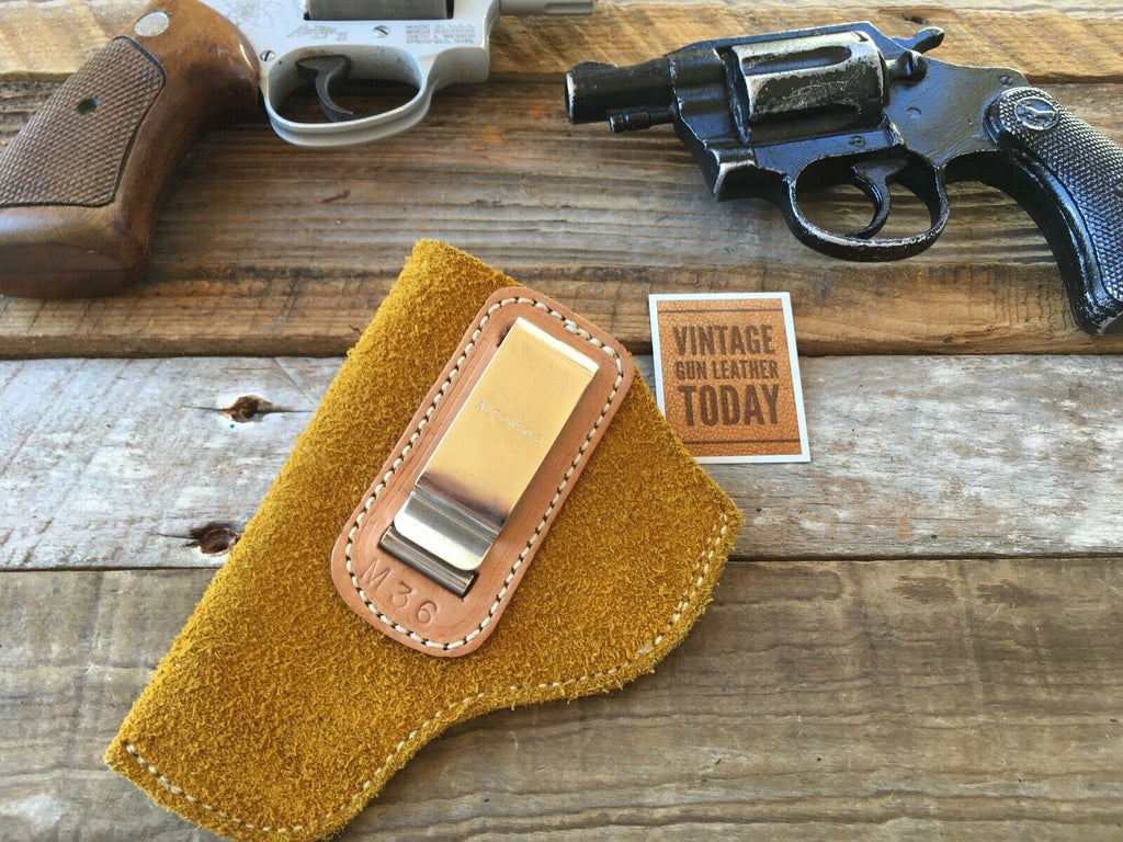 Vintage Alfonsos Suede Leather IWB Holster For Chief Detective Special Revolver