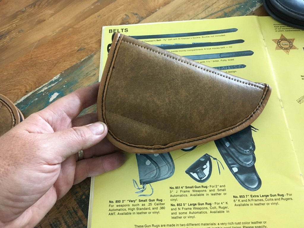 Vintage Tex Shoemaker Gun Rug Case Small Auto For .25 .22 AMT .380 1908 High