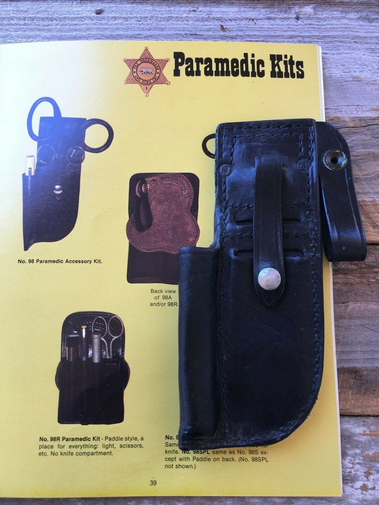 Tex Shoemaker Leather Medic Fire First Aid EMT EMS Paramedic Accessory Kit EMS