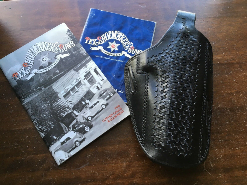 Vintage Tex Shoemaker PC13 Basketweave Leather Holster for Taurus 454 Casull 6""