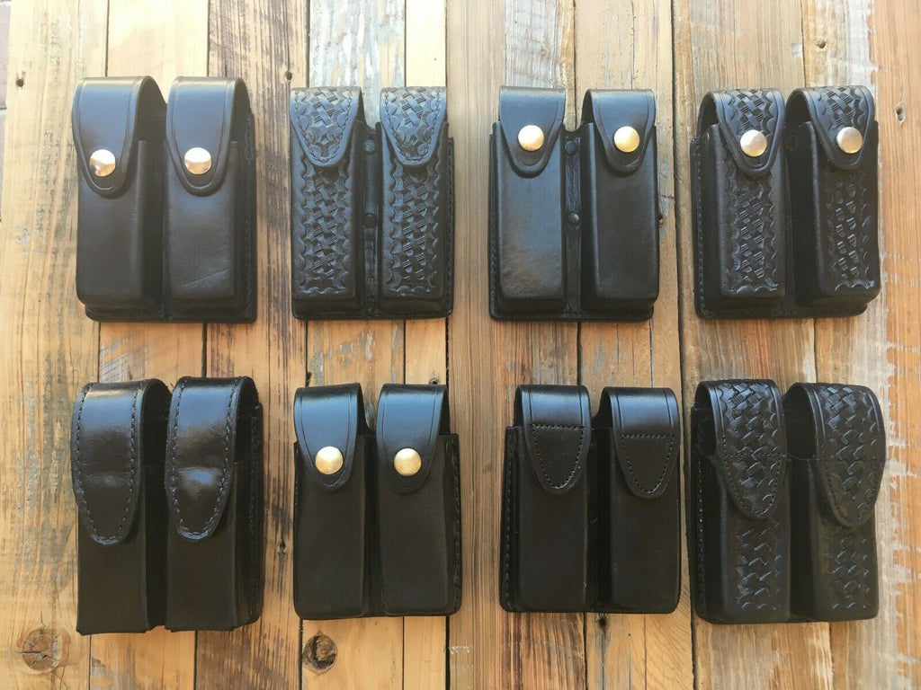 Tex Shoemaker 213 A4 Leather Quad Magazine Carrier For HK P7M8 P7 PSP P225