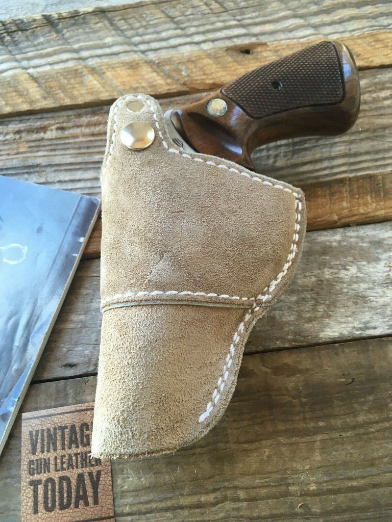 Vintage Tex Shoemaker Leather IWB Holster For S&W J Frame Revolver up to 3""