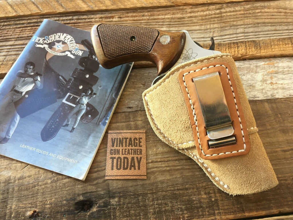 Tex Shoemaker Leather IWB Holster For S&W J Frame Revolver up to 3""