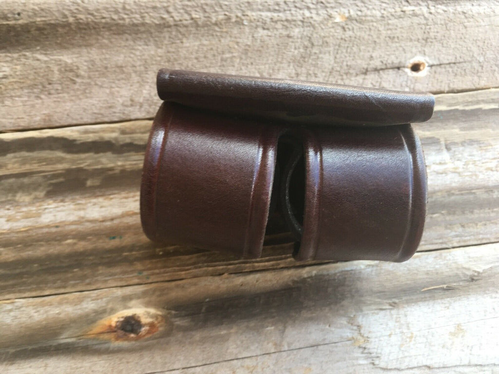 Tex Shoemaker 103 Brown Leather Double Speedloader Holder K Frame with Velcro