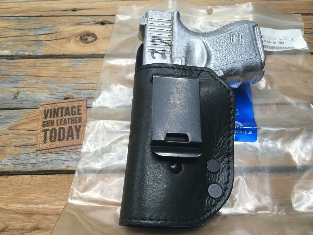 Beautiful Cobra Black Leather Lined IWB Holster For GLOCK 26 27 33 Shelby LEFT