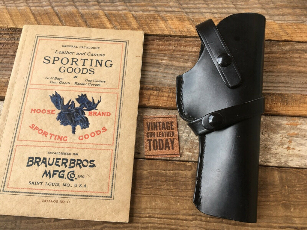 Brauer Brothers Black Leather Left Draw Holster H3 For Colt 1911 Ace 38 Super Right