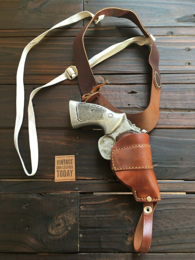 Brauer Brothers NS Leather Shoulder Holster For S&W Medium Frame Revolver 2""