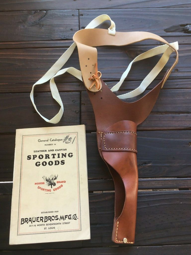 Brauer Brothers NS16 Leather Shoulder Holster Small Frame Revolver .22 Auto