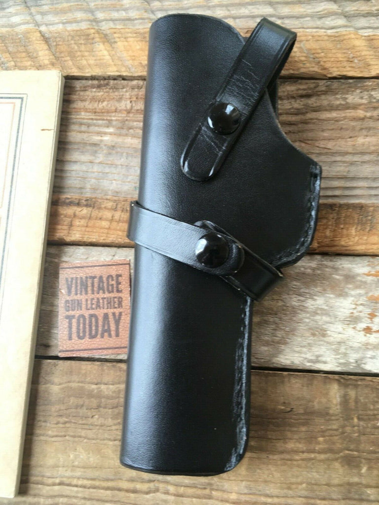 Brauer Brothers Black Leather Left Draw Holster H3 For Colt Government Ace 38 Super