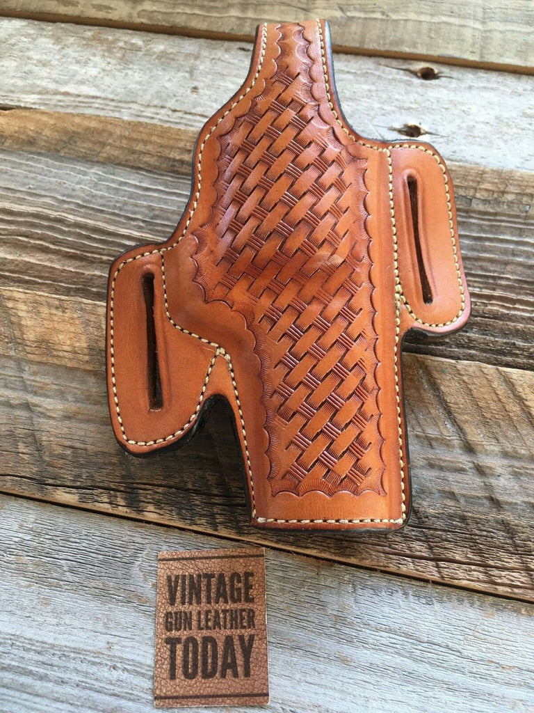 "VTG Alfonsos Brown Leather F60 Suede Lined Holster for 4"" S&W N Frame Mod. 29"