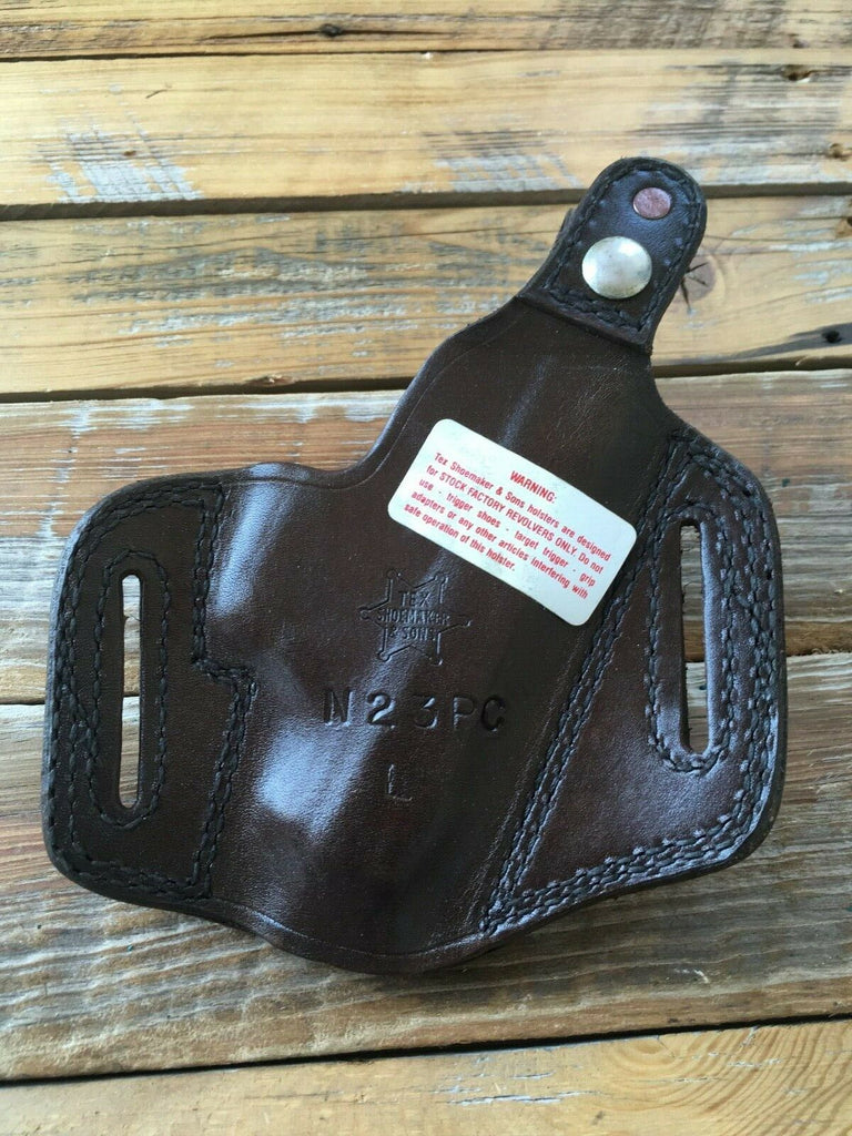 Tex Shoemaker Natural Brown Leather / Basketweave OWB Holster for S&W 6906 6904