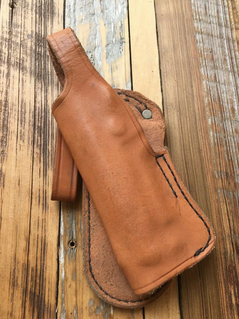 Vintage Natural Tan Tex Shoemaker Paddle Holster For S&W Mod 39 59 Left