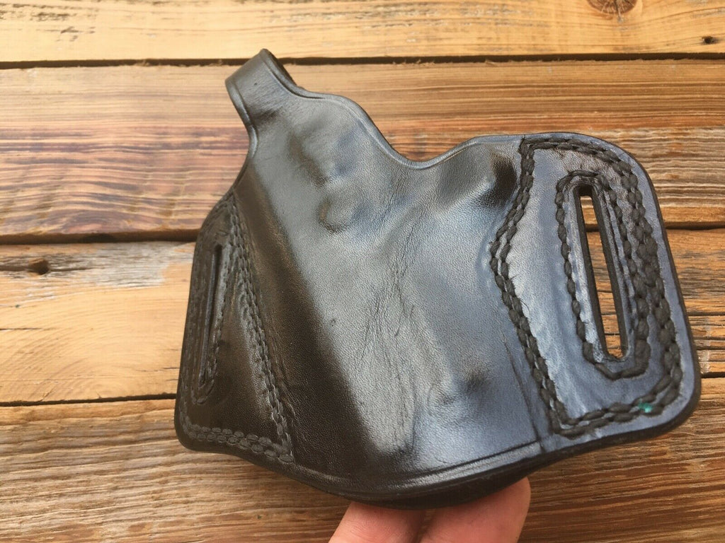Vintage Tex Shoemaker 23PC Black leather OWB Holster for S&W 469 669 LEFT