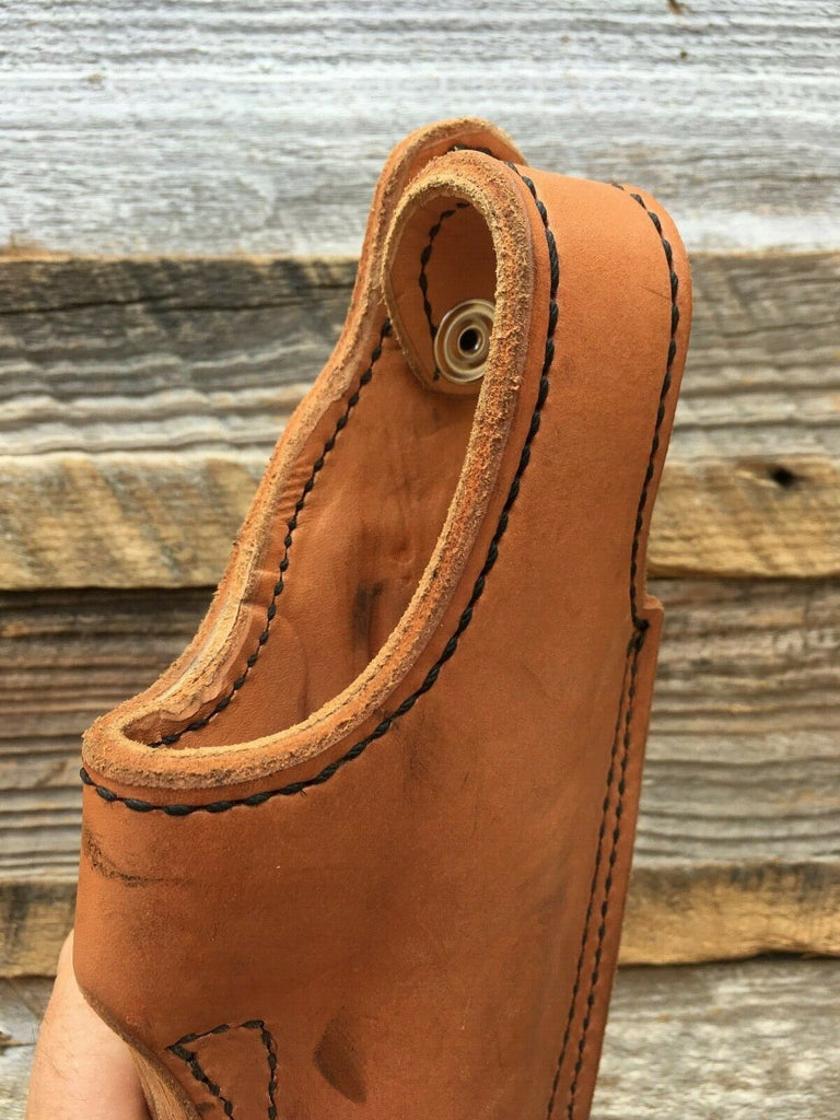 Vintage Tex Shoemaker Leather Holster For S&W 4006 Black Brown Plain Basketweave