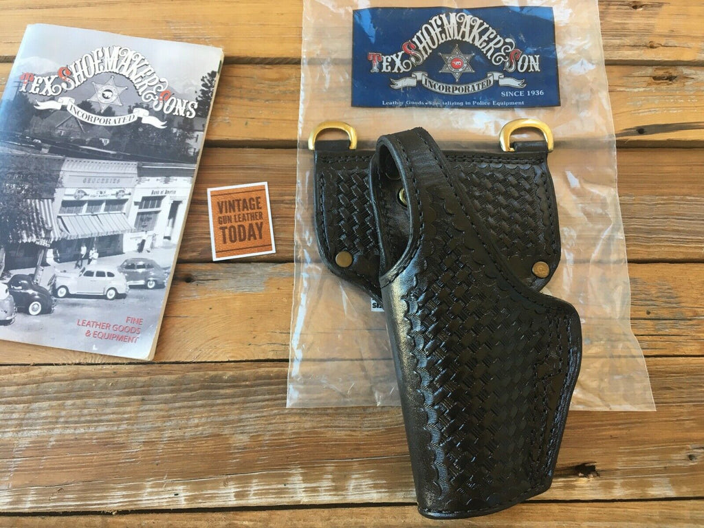 Tex Shoemaker Black Basketweave Duty Holster For Beretta 92FS Compact