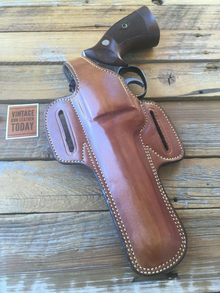 "Alfonso's Plain Brown Suede Lined F60 For S&W Medium K Frame Revolver 6"" Left"