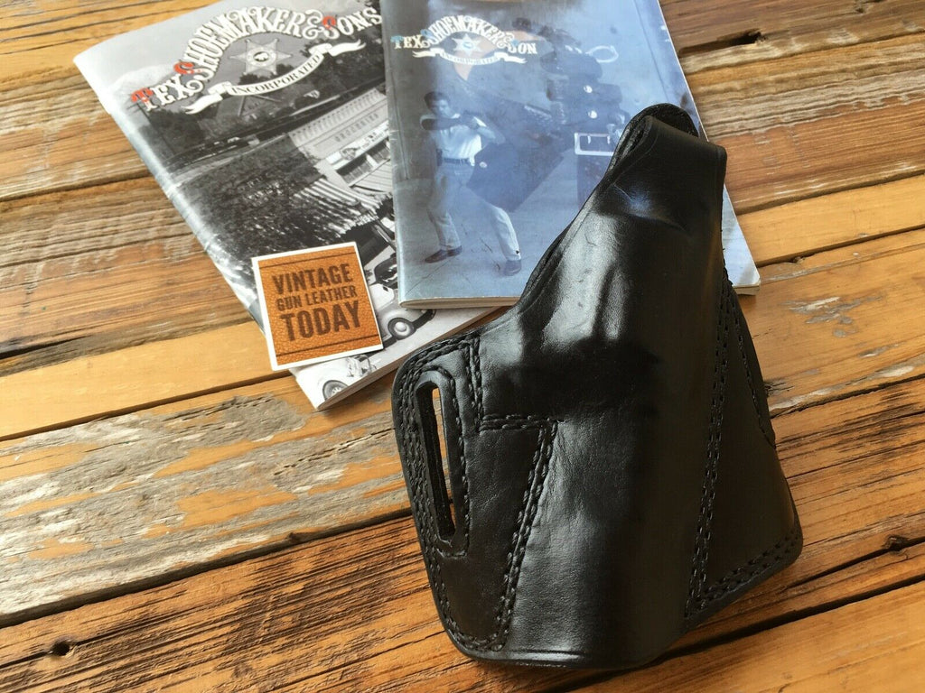 Vintage Tex Shoemaker PC Black Leather OWB Holster For S&W Model 60 Pro