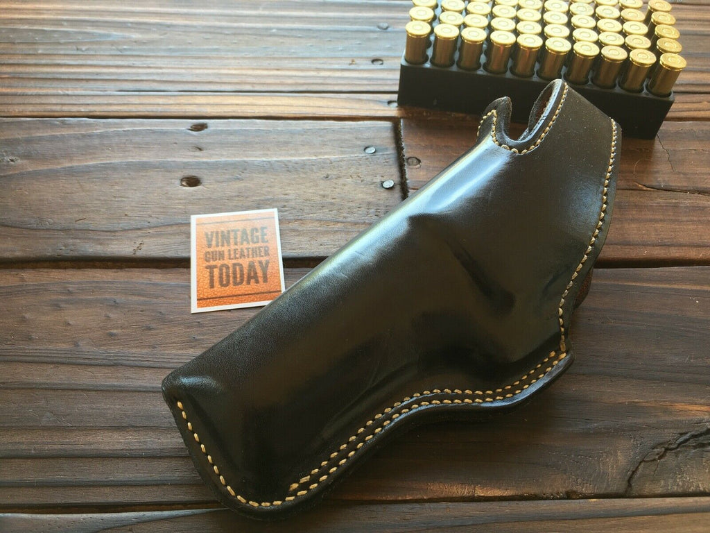 "Alfonso's Plain Black Suede Lined Holster for 4"" S&W N Frame Mod. 29 LEFT"
