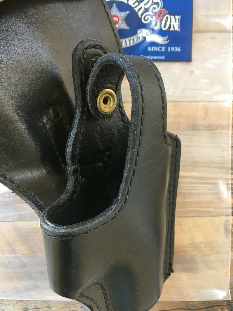 Vintage Tex Shoemaker Plain Black Leather Duty Sam Browne Holster For S&W 6906