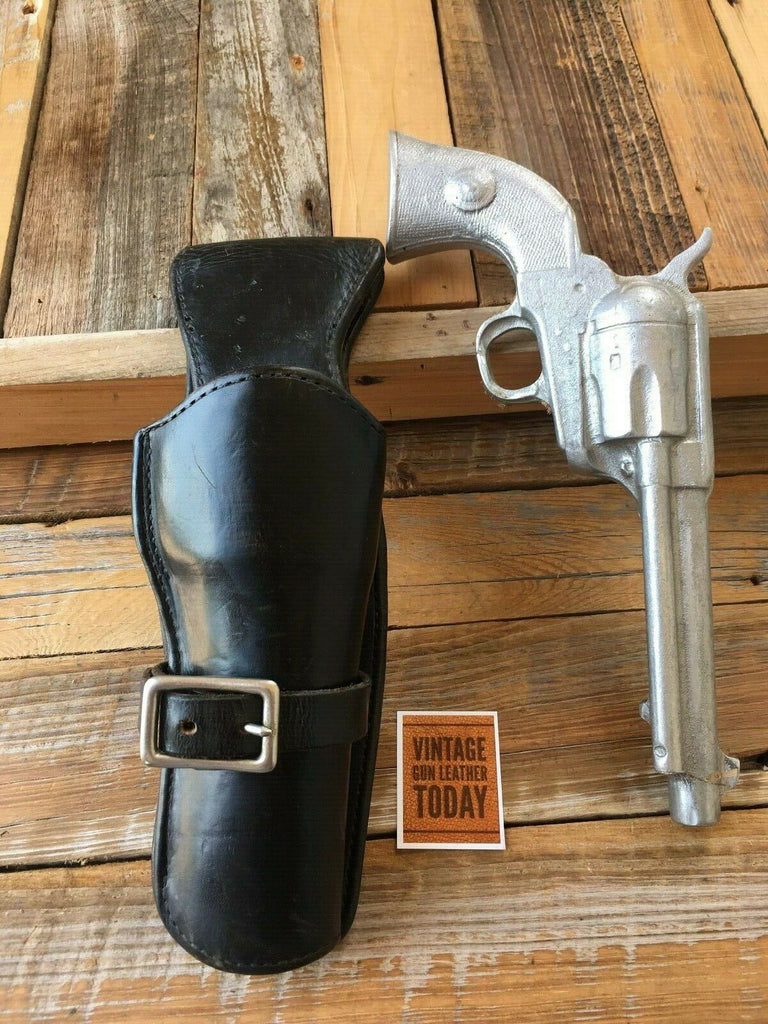 Vintage Western Black Leather Arvo Ojala Fast Draw Holster For Colt SA Army 5 1/2""