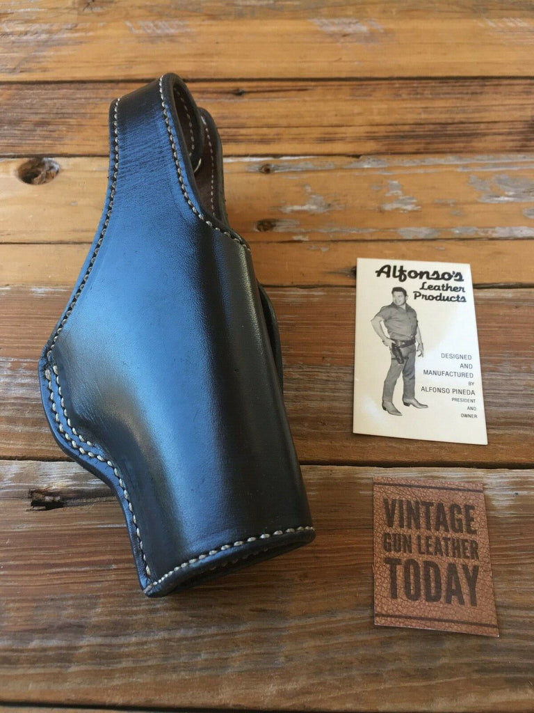 Alfonso's of Hollywood Black Leather Suede Lined Holster For GLOCK 23 G23