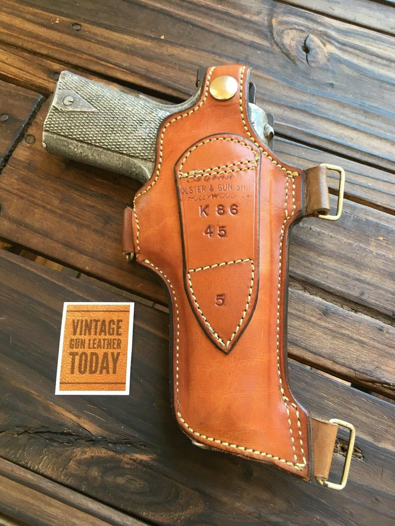 Alfonso's brown Leather Shoulder Holster Component For Colt Government .45 1911