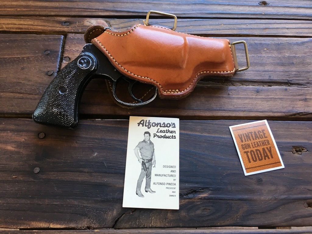 Vintage Alfonsos Brown Leather Shoulder Holster Component for S&W Model 36 Chief Colt Detective 2..