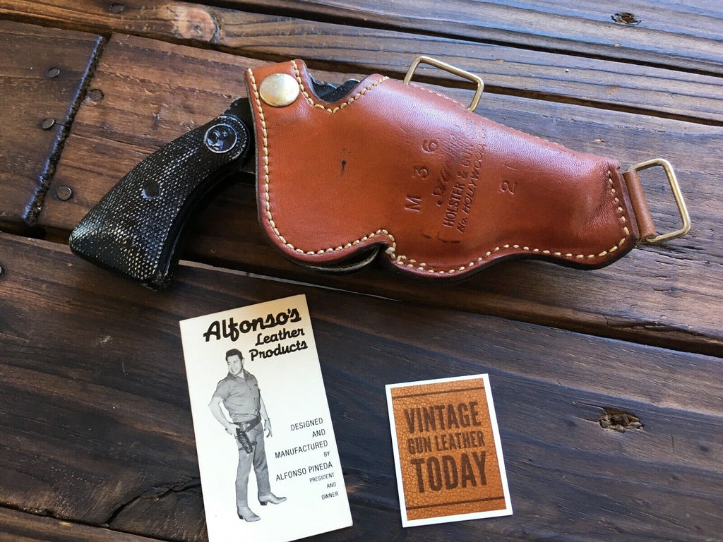 Vintage Alfonsos Brown Leather Shoulder Holster Component for Mod S&W 36 Chief Colt Detective 2""