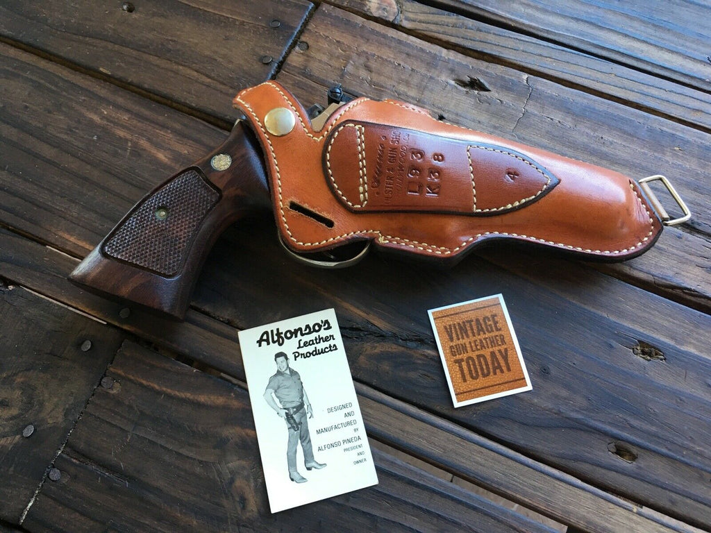 Alfonso's brown Leather Suede Lined Shoulder Holster Component For S&W K Frame 4""