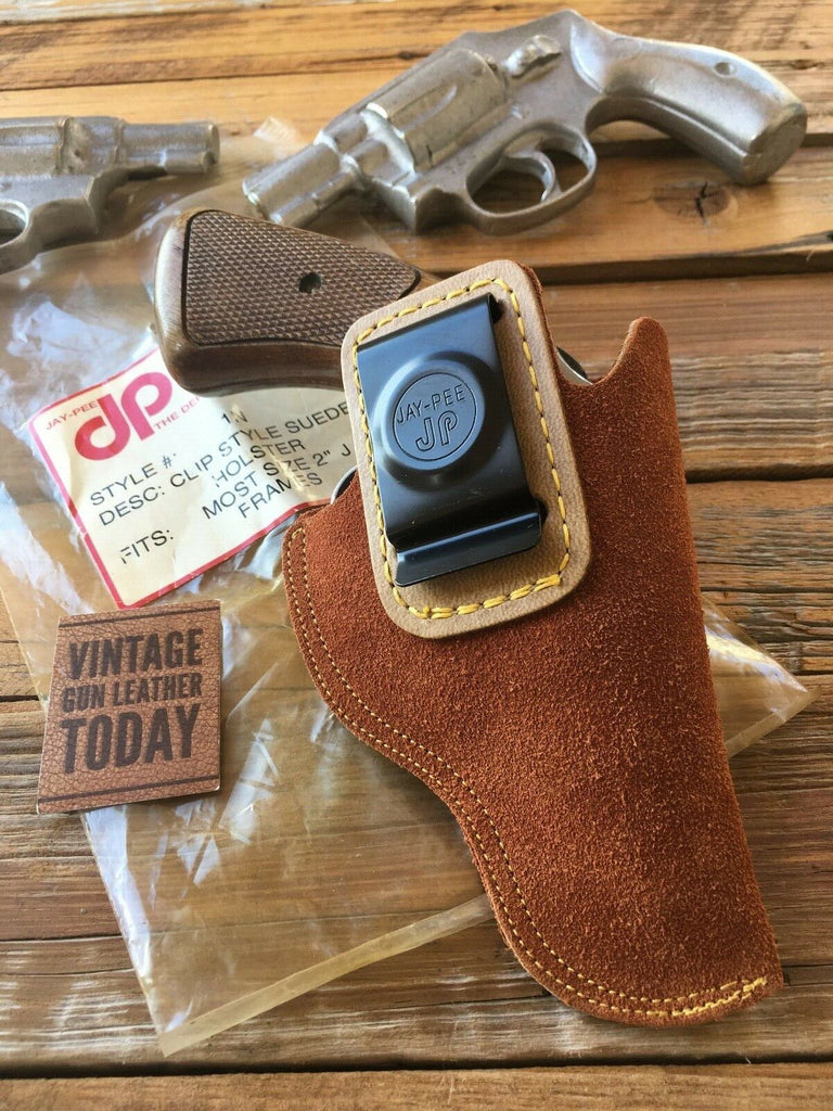 "Vintage JAY PEE Suede Leather IWB Holster For S&W J Frame 2"" Bodyguard Chief 640"