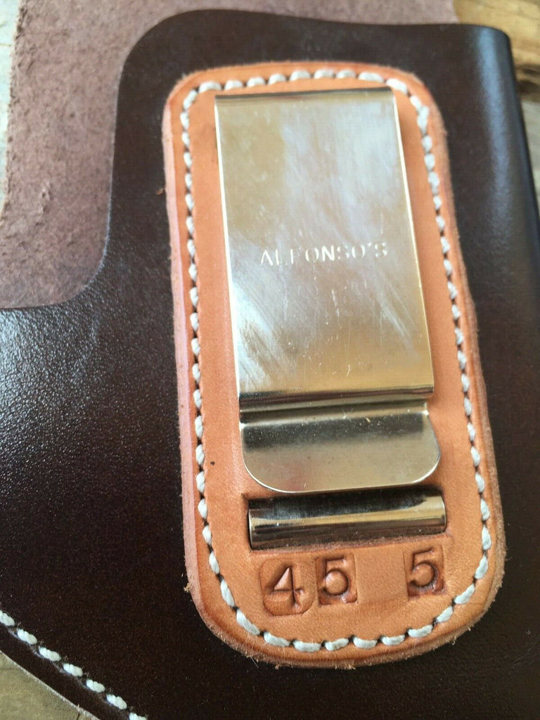 Vintage Alfonsos Dark Brown Leather IWB Holster for Colt 1911 Government / Hi Power Right