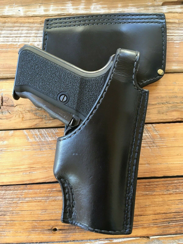 Tex Shoemaker NJ 63 Plain Black Police Duty Holster P7M8 P7M13 Leather Lined