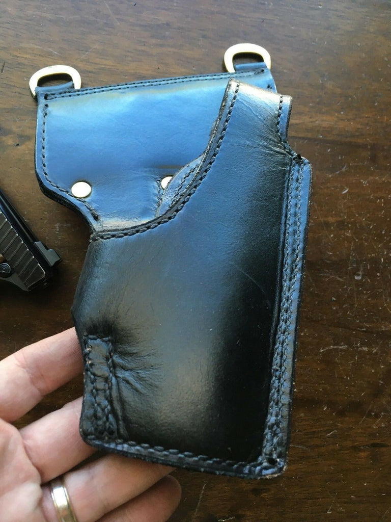 Vintage Tex Shoemaker NJ Hanger Lined Police Duty Holster For P7M8 P7M13 P7