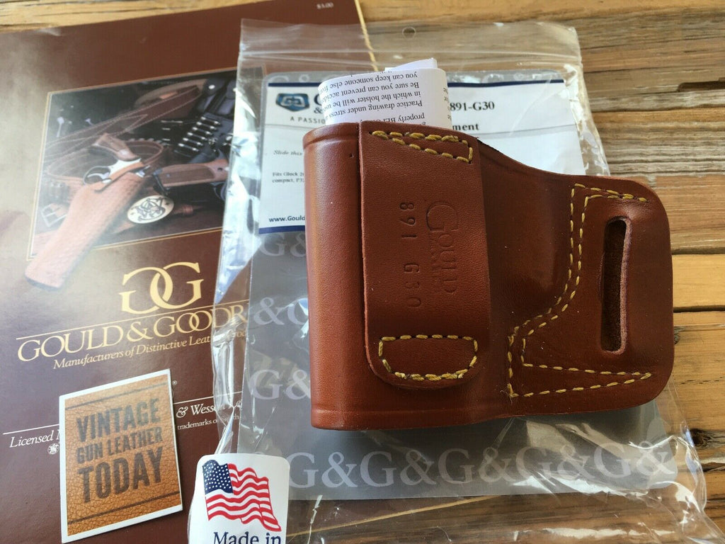 Gould & Goodrich Leather Belt Slide Holster For Glock S&W Sig M&P Walther Taurus