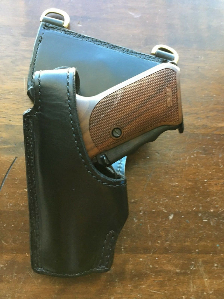 Vintage Tex Shoemaker NJ Hanger Lined Police Duty Holster For P7M8 P7M13 P7 LEFT