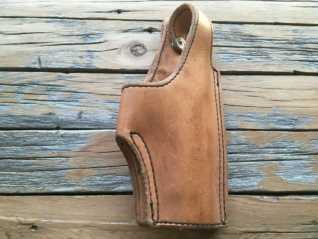 Tex Shoemaker Brown Black Leather Lined High Ride Holster For HK USP 40 .357 Sig
