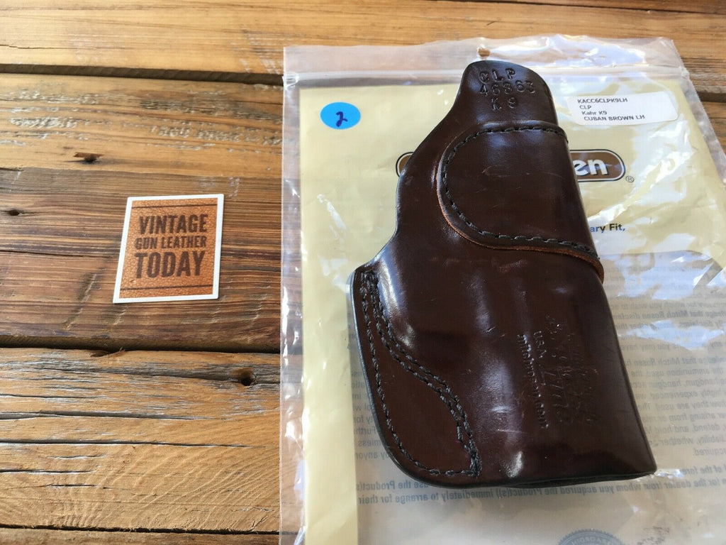 Mitch Rosen Express Cuban Brown Leather IWB Holster KAHR K9 LEFT
